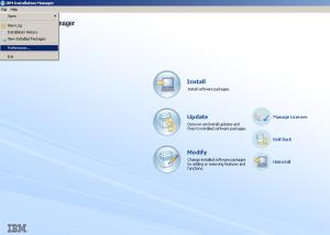 1-jalankan Installation manager versi 1.8 ke atas - install ISA